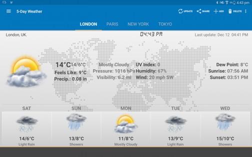 Weather & Clock Widget 5.9.3.4. Скриншот 12