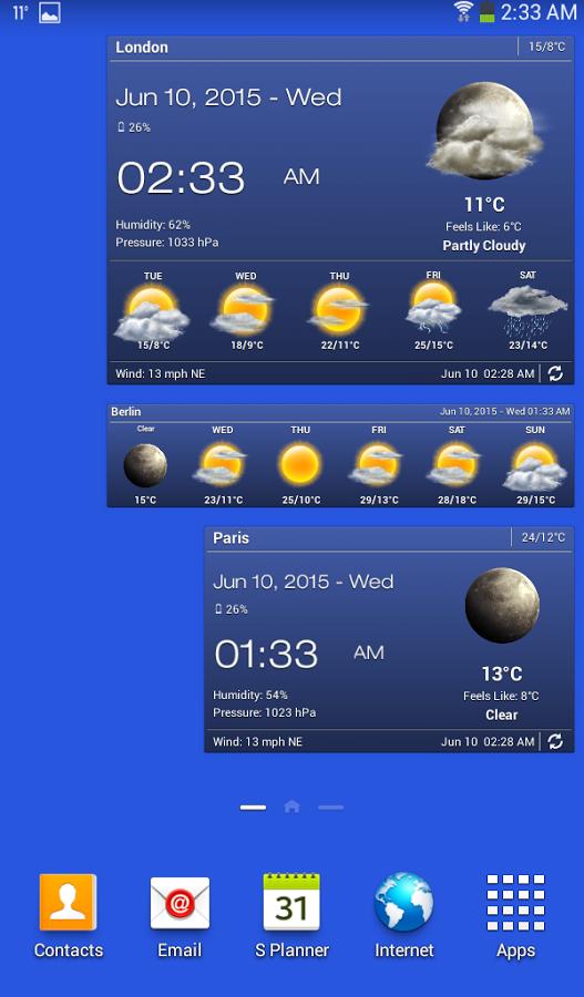 Самая холодная погода в городах