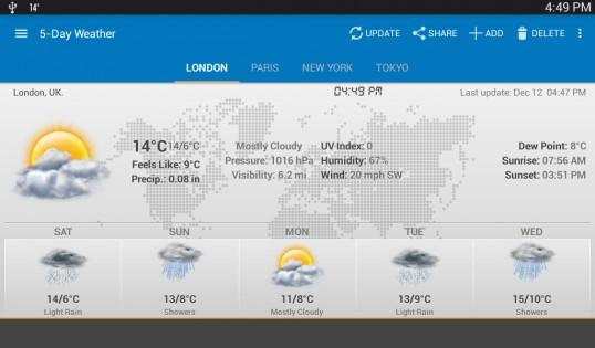 Weather & Clock Widget 5.9.3.4. Скриншот 15
