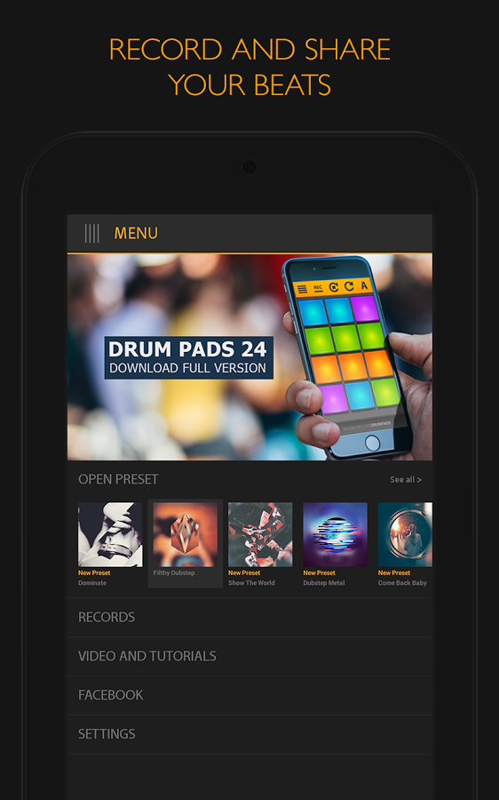 Скачать dubstep drum pads 24 2. 3. 0 для android.