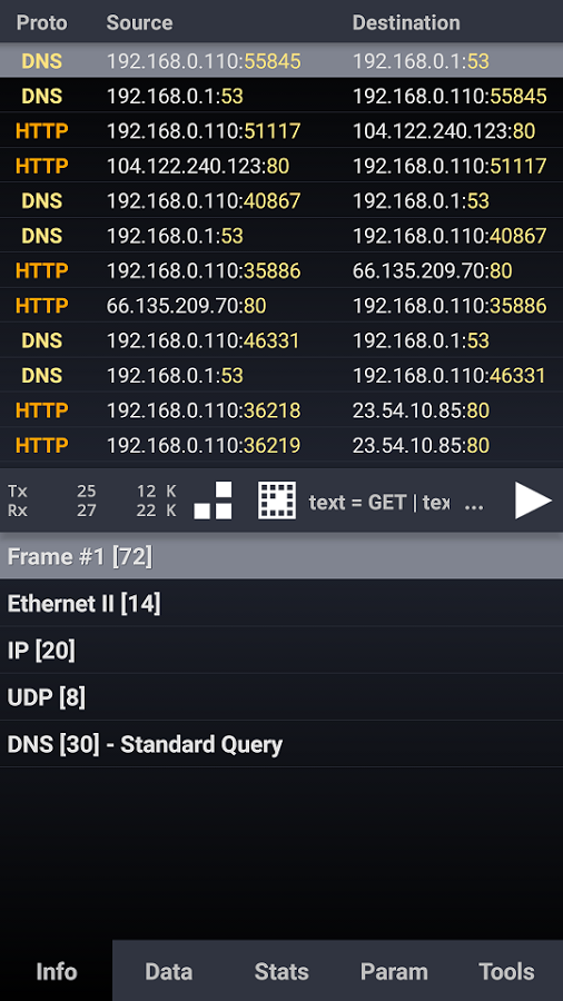 Скачать Wicap Network sniffer 2 5 7 для Android