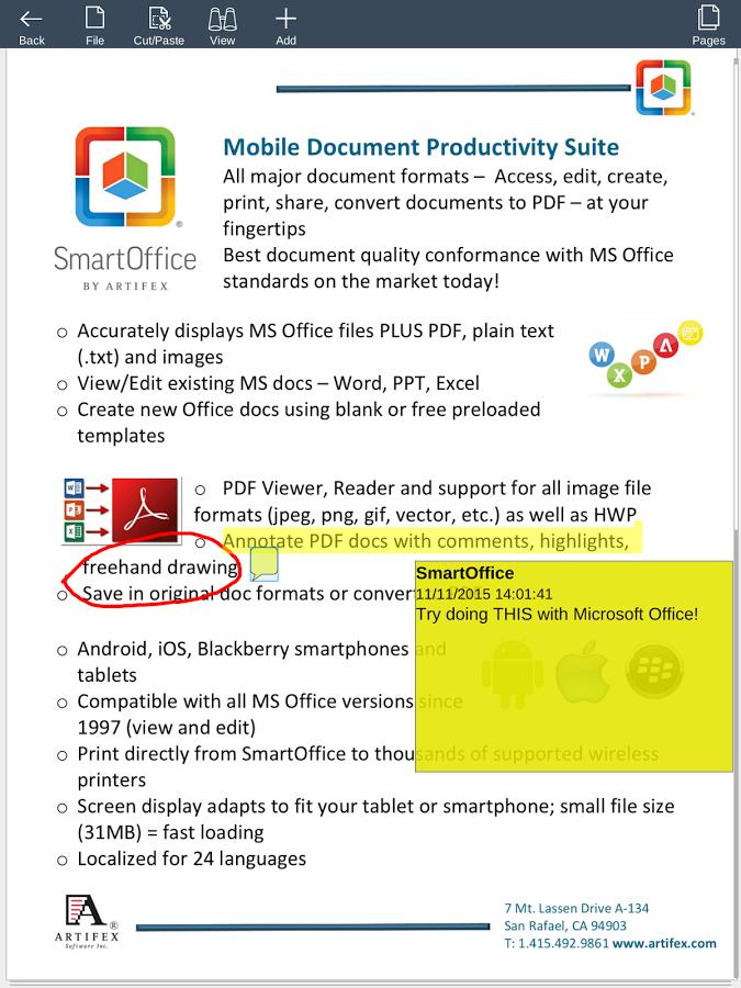 Программа офис для смартфона андроид скачать бесплатно