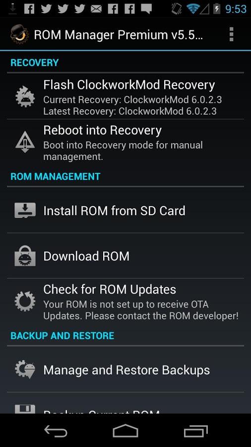 Скачать rom manager на компьютер
