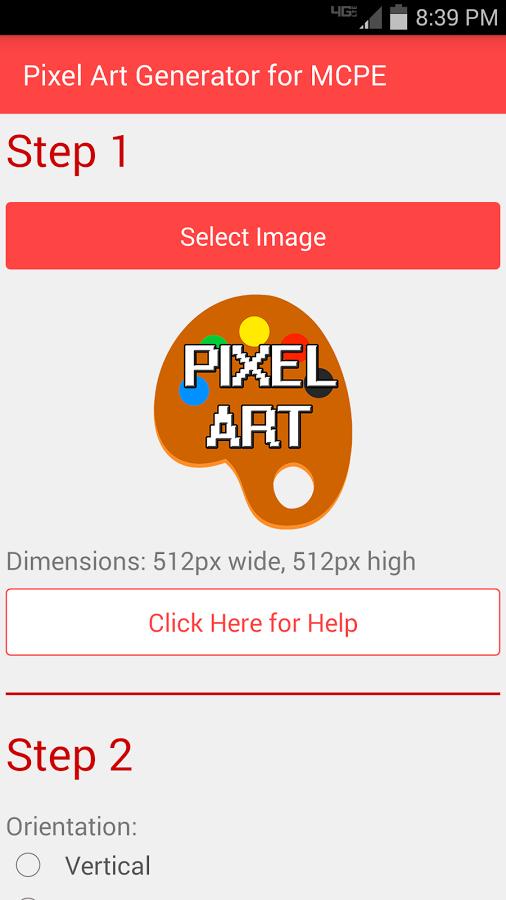pixel art generator for mcpe скачать