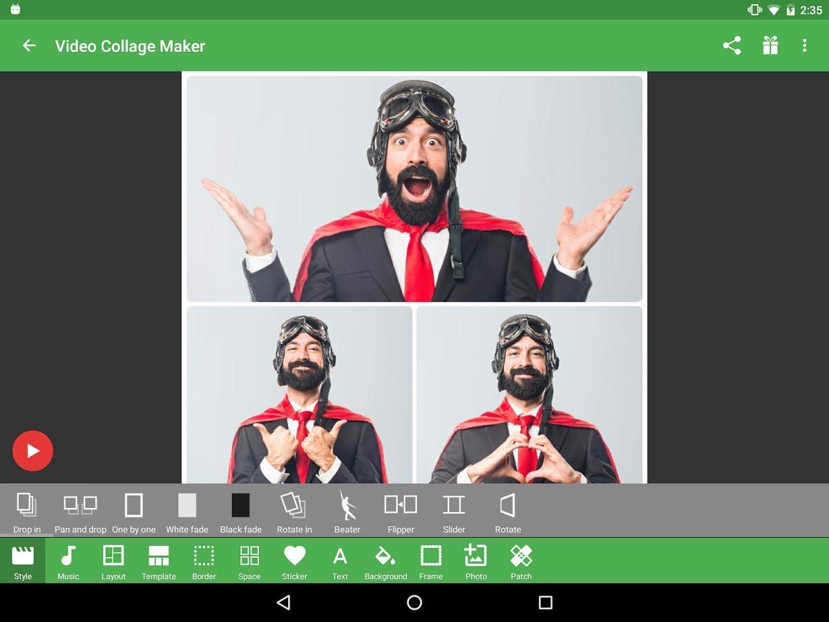 Скачать мастерская видео-коллажей 23. 4 для android.