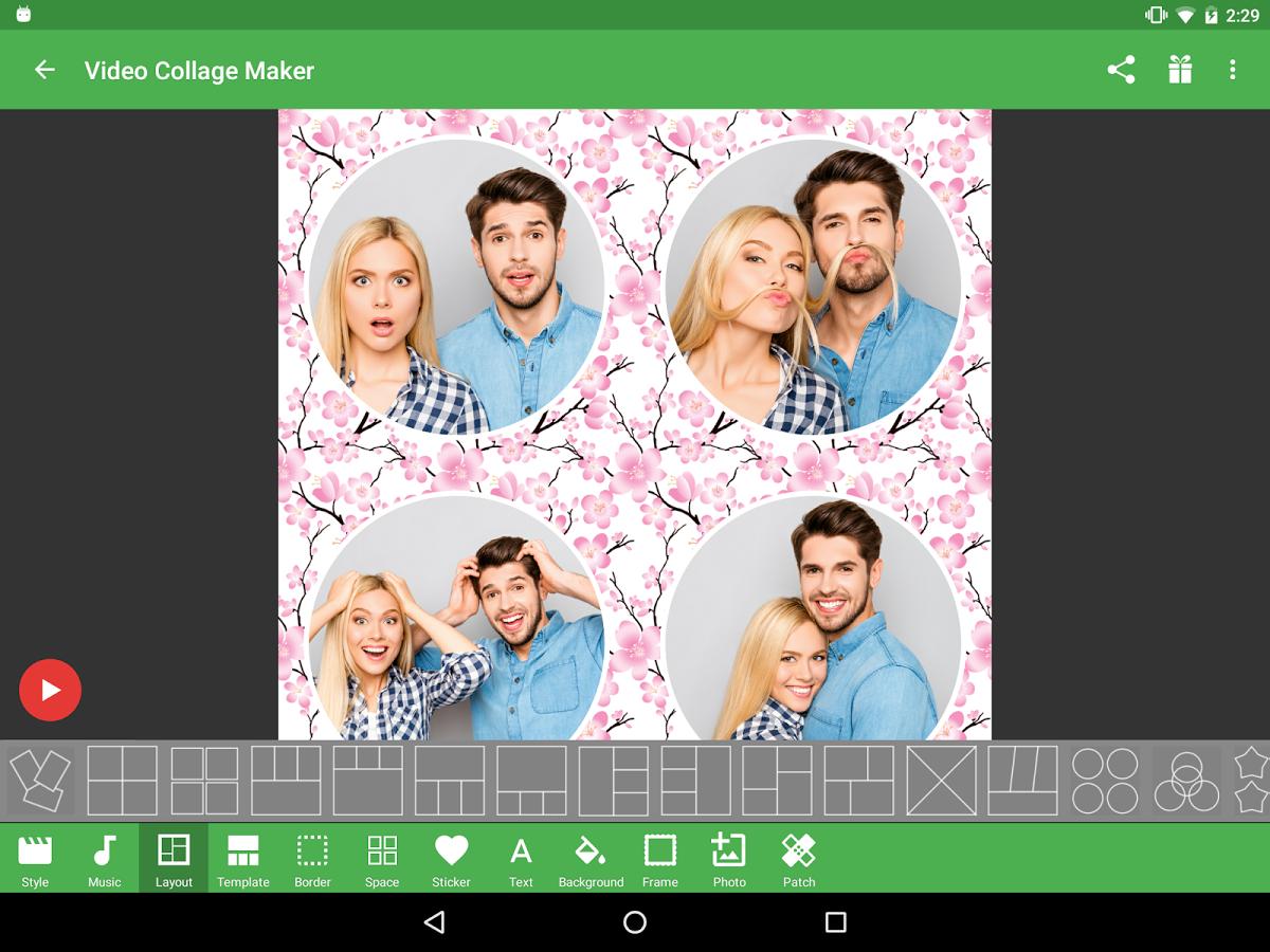 как на телефоне сделать коллаж из фотографий андроид