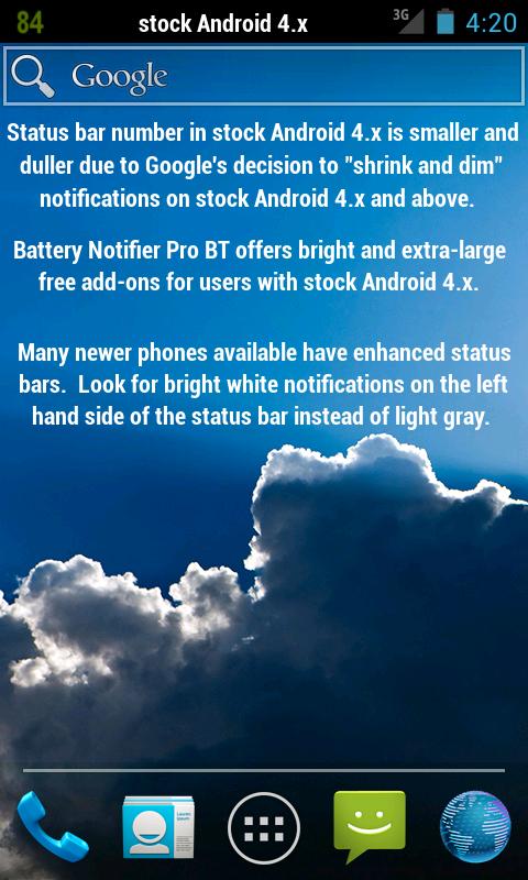 battery notifier bt free для андроид 2.3