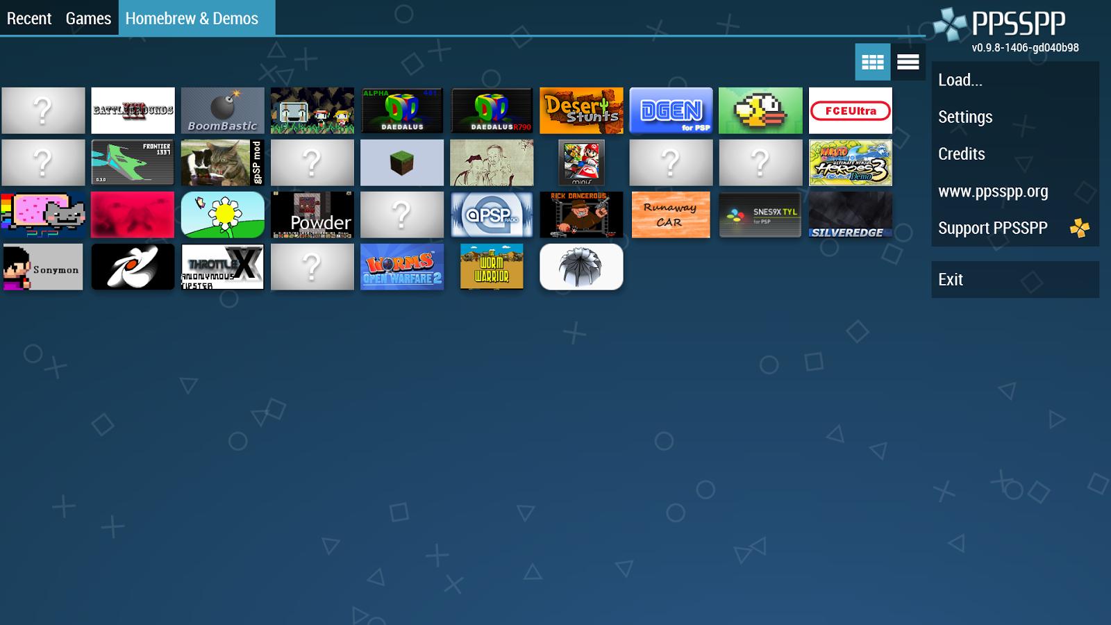 скачать игры на андроед для программы ppsspp