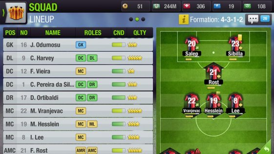 Top Eleven Be a Soccer Manager 0.8. Скриншот 07