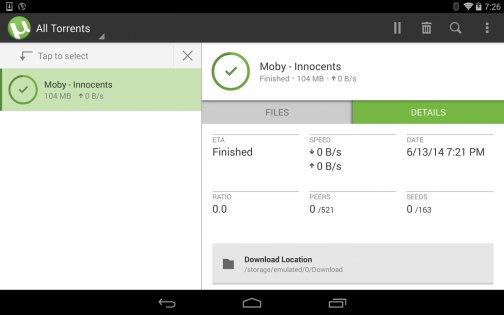 µTorrent 0.44.332. Скриншот 09