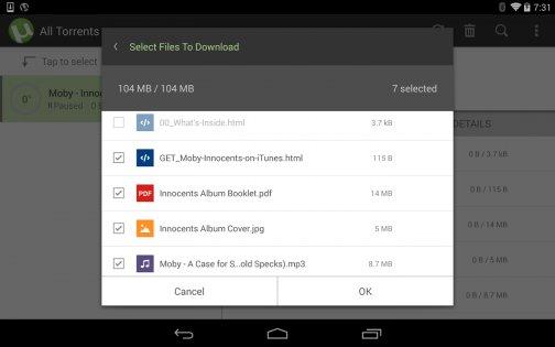 µTorrent 0.44.332. Скриншот 02