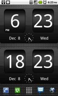 FlipClock BlackOut Widget 0.5.0. Скриншот 0