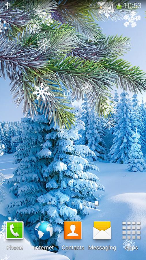 скачать живые картинки зима