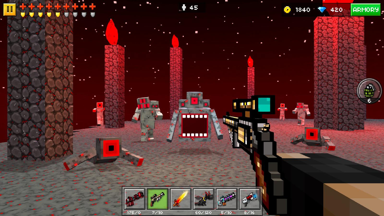 Скачать pixel gun взломанную версию
