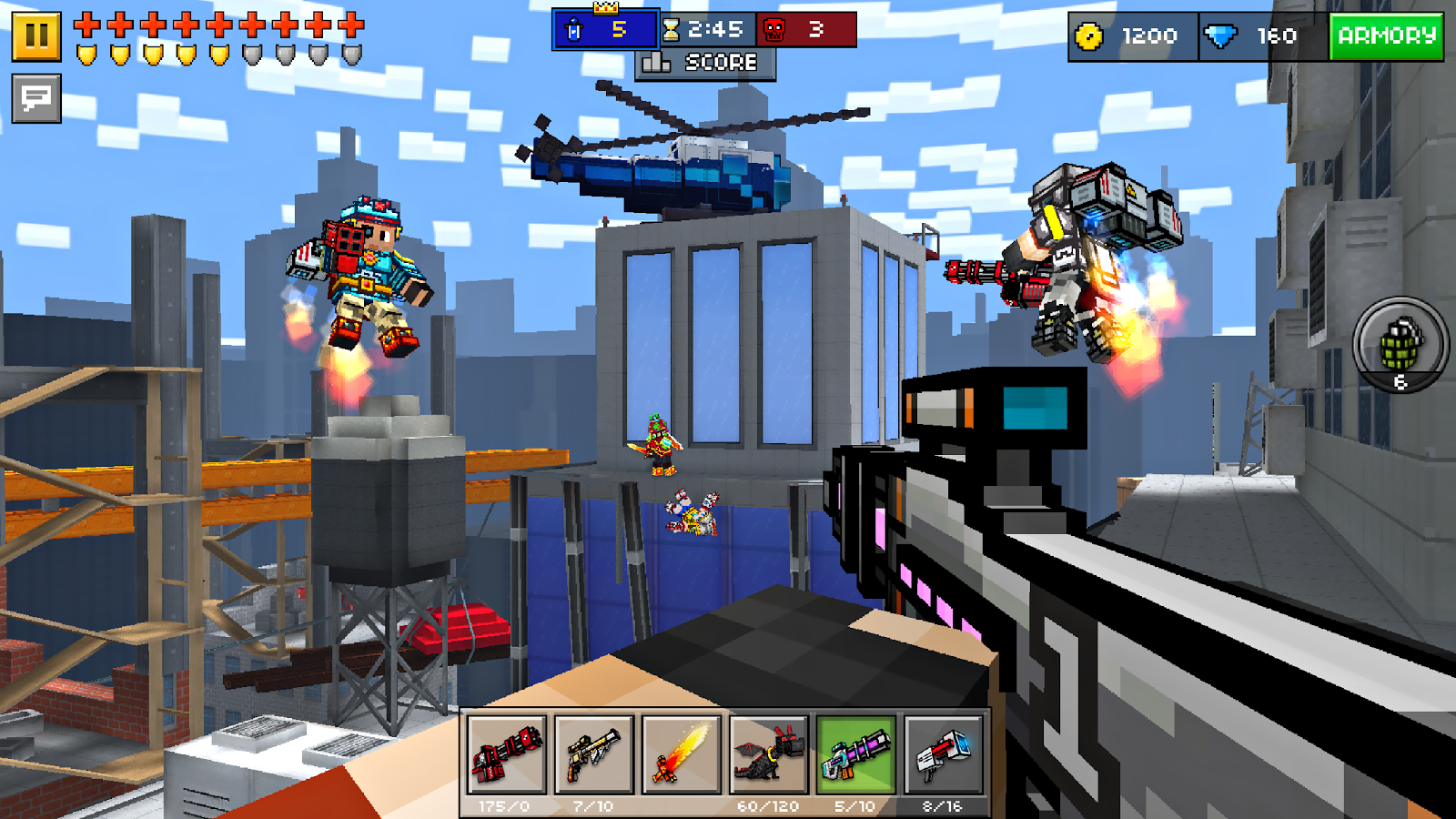 Скачать pixel gun 3d на компьютер.
