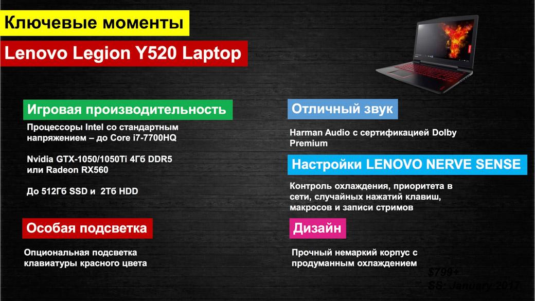 Lenovo представила новый геймерский бренд Legion в России