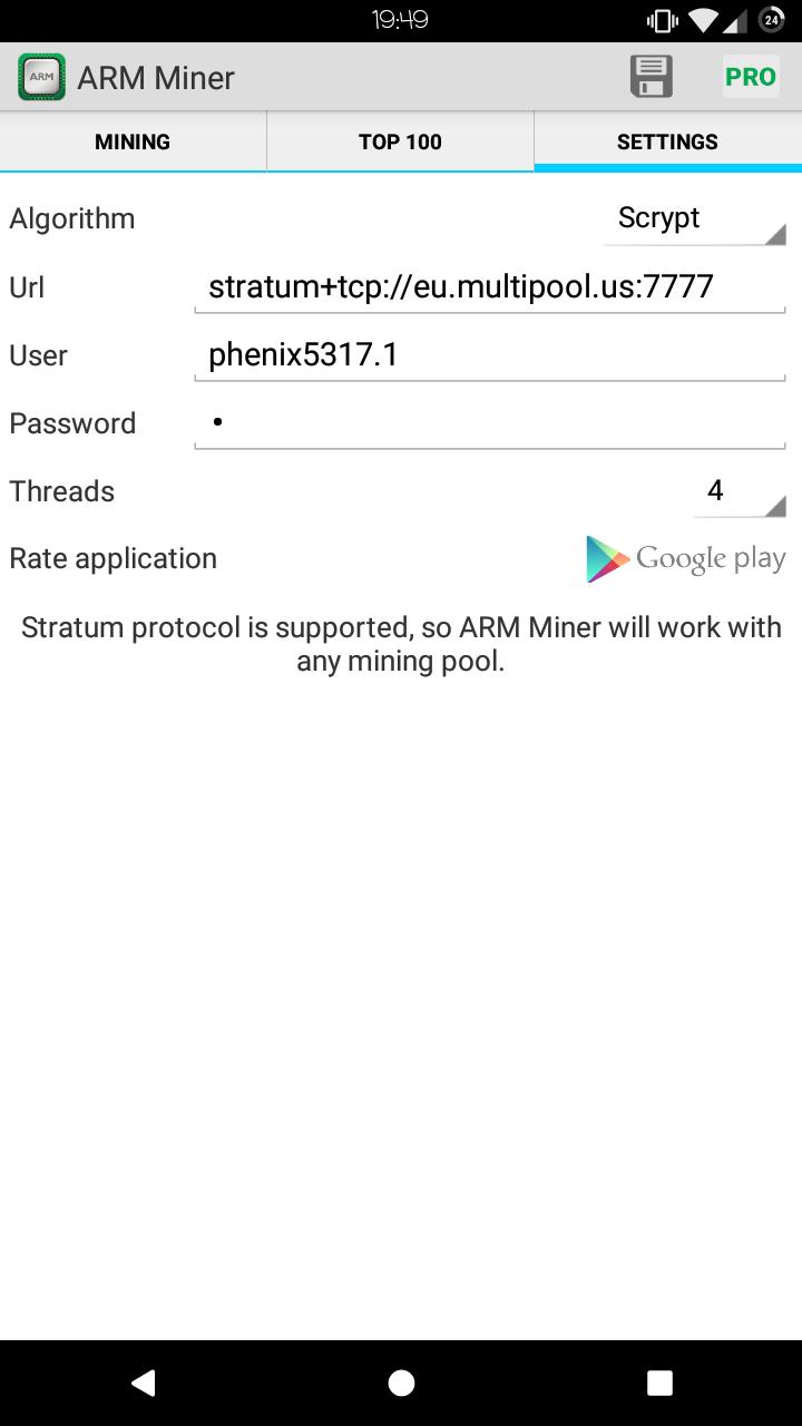 arm miner bitcoin 4pda