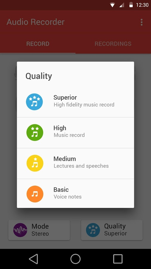 Audio Recorder 20035 Android