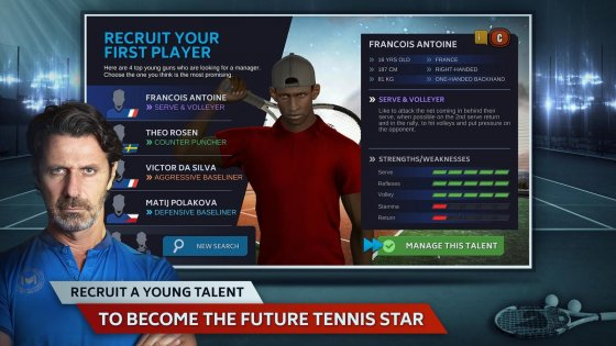 Tennis Manager 0.8.1760. Скриншот 1