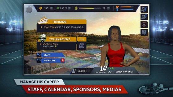 Tennis Manager 1.0.2315. Скриншот 2