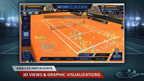 Tennis Manager 0.8.1760. Скриншот 5