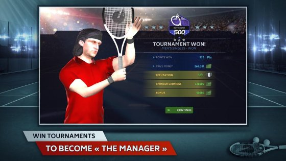 Tennis Manager 1.0.2315. Скриншот 7