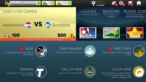 Stickman Soccer 20182.0.1. Скриншот 6