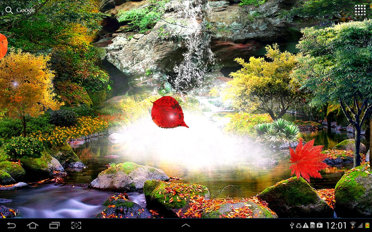 Обои водопад, осень, Пейзаж. Пейзажи